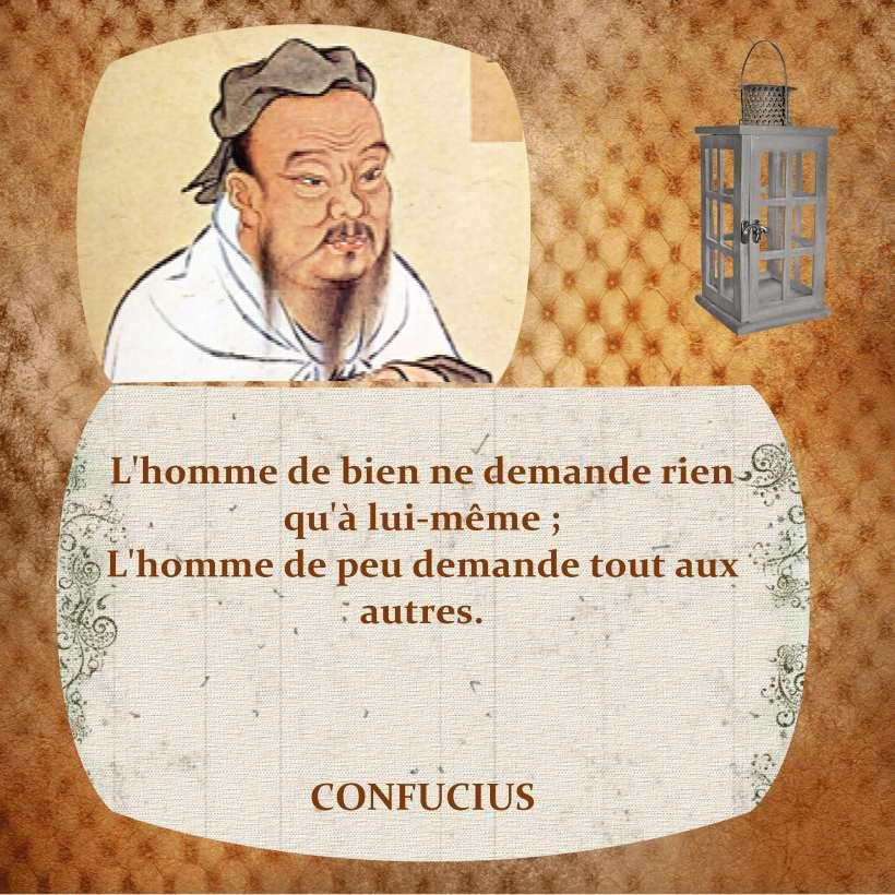 Confucius Homme de bien